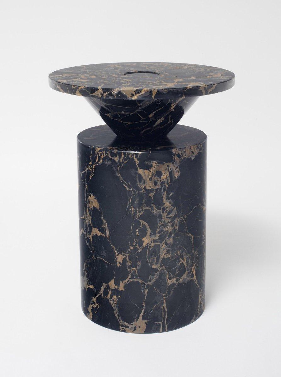 Totem Coffee Table In Portoro Nero Marble By Karen