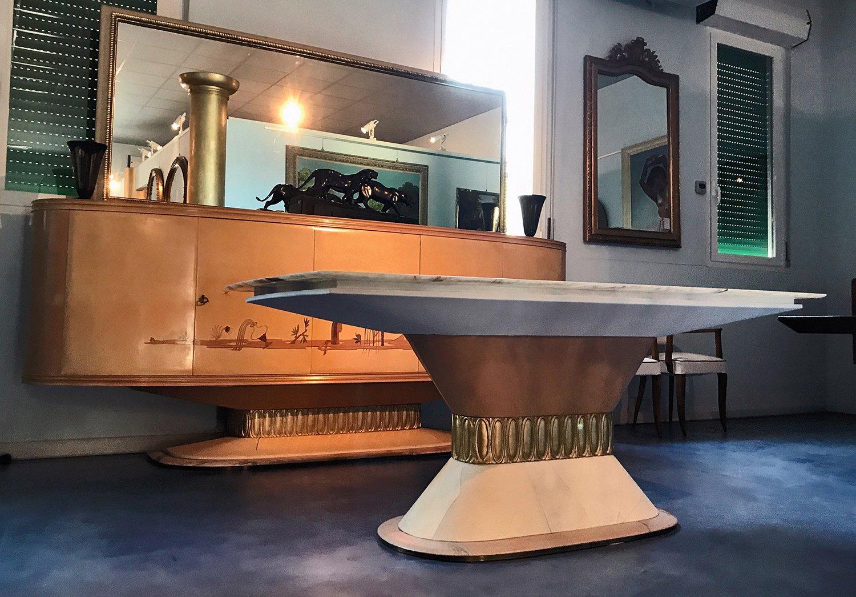 Mobili Anni 40 : Credenza art déco con specchio di galleria mobili d arte cantù