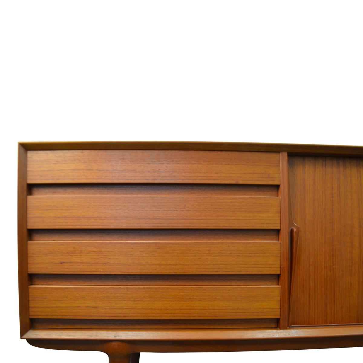 D nisches mid century modell 18 teak sideboard von omann for Sideboard 4 meter lang