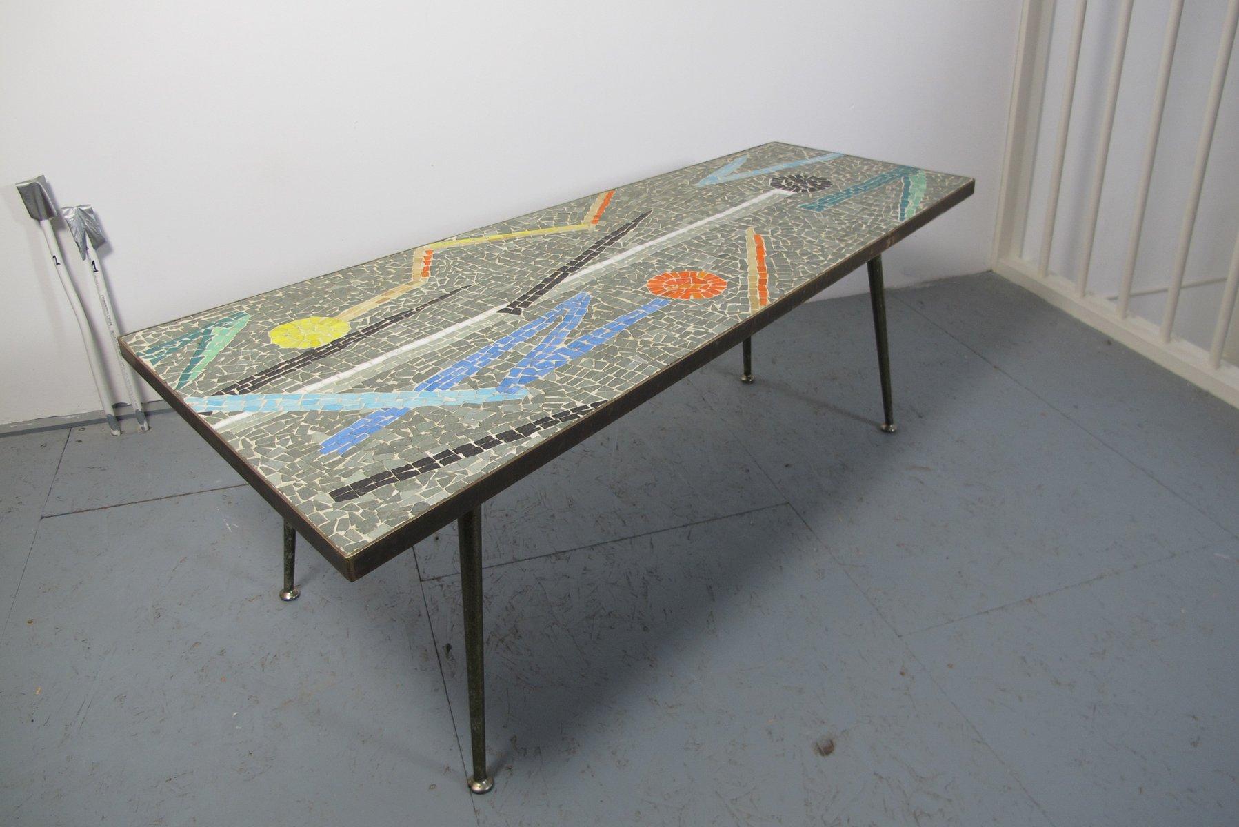 Asymmetrischer Mosaik Couchtisch, 1950er