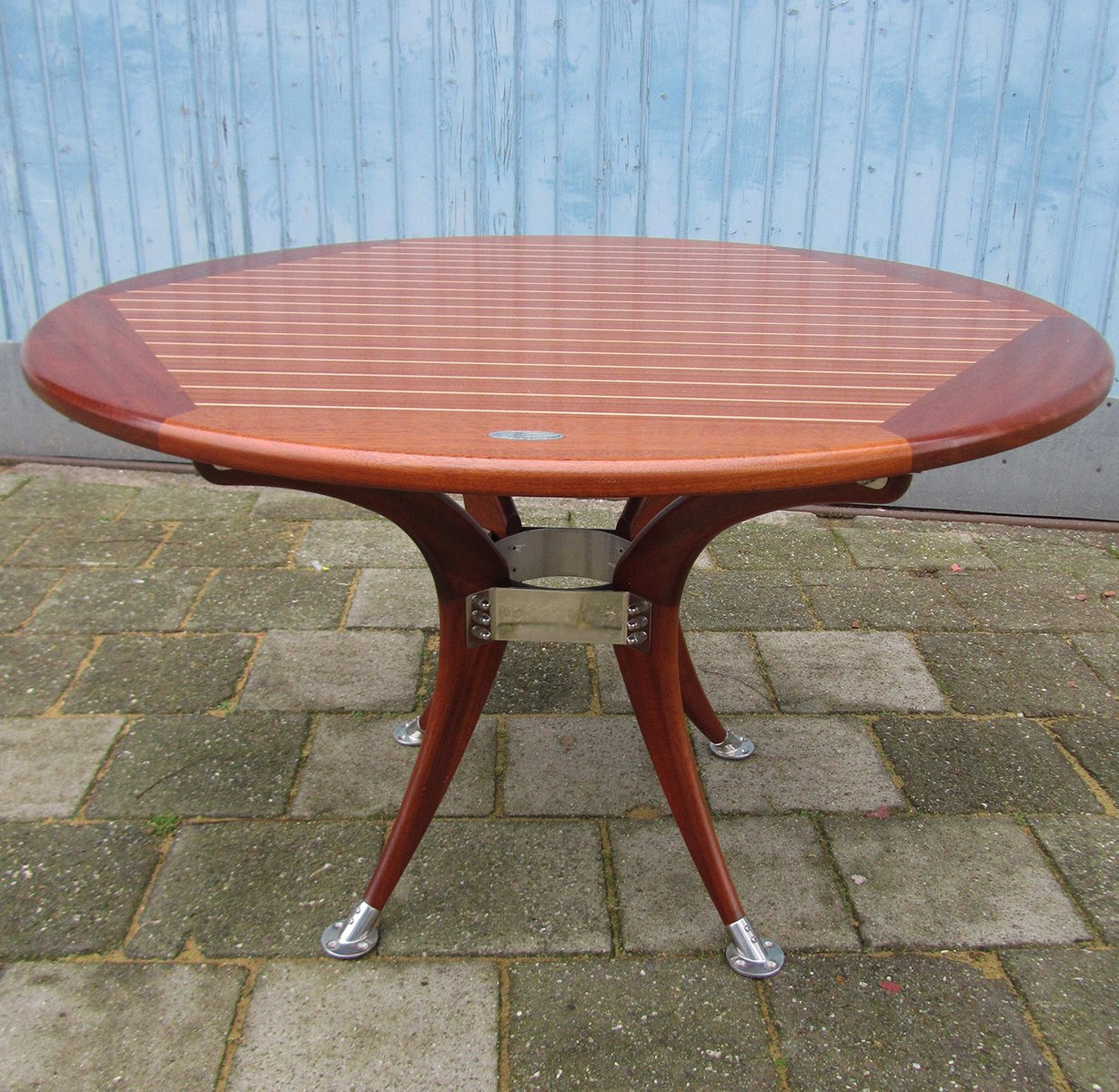 Tavolo da giardino rotondo allungabile vintage di deckline in vendita su pamono - Tavolo rotondo vintage ...