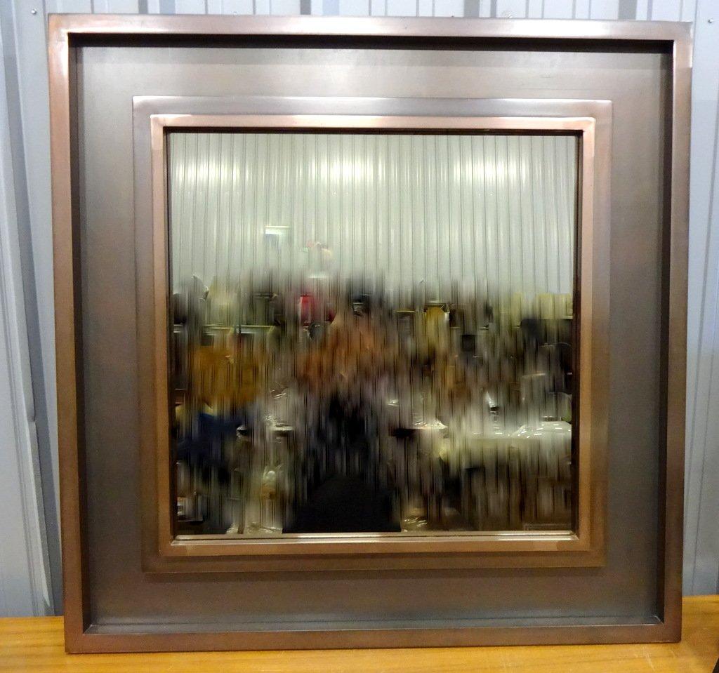 Specchio grande con cornice in metallo anni 39 70 in - Specchio grande ...