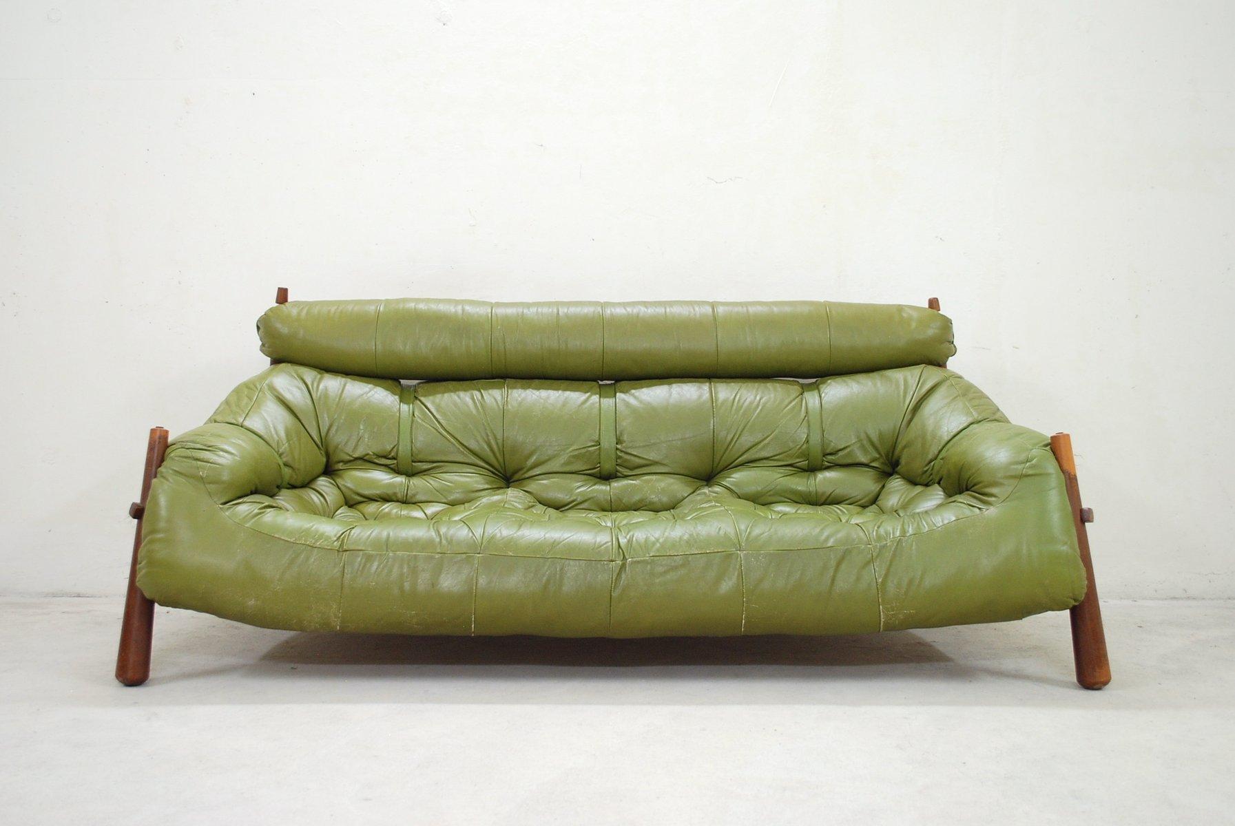 Grünes Lounge Sofa von Percival Lafer, 1958