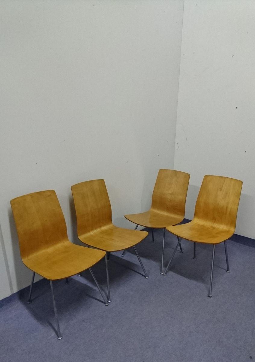 Sedie Da Pranzo Mid Century Anni 39 50 Set Di 4 In Vendita
