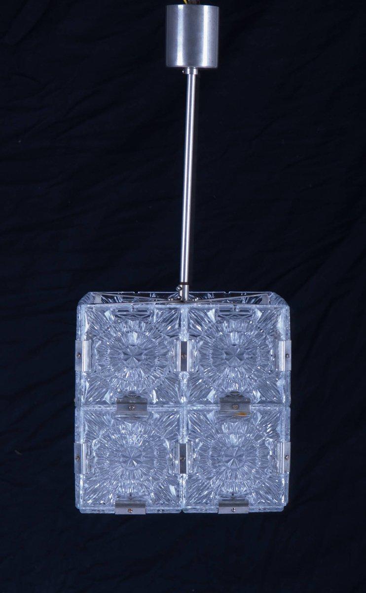 mid century cube pendant light for sale at pamono. Black Bedroom Furniture Sets. Home Design Ideas