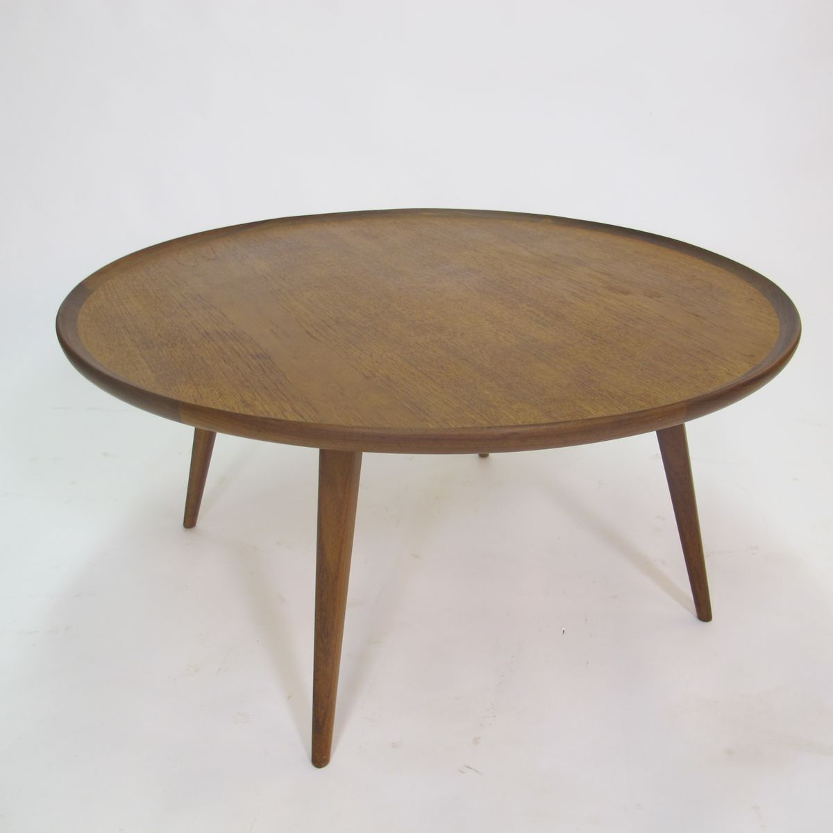 Mid Century Two Tone Coffee Table By Weiman: Mid-Century Round Teak Coffee Table, 1950s For Sale At Pamono