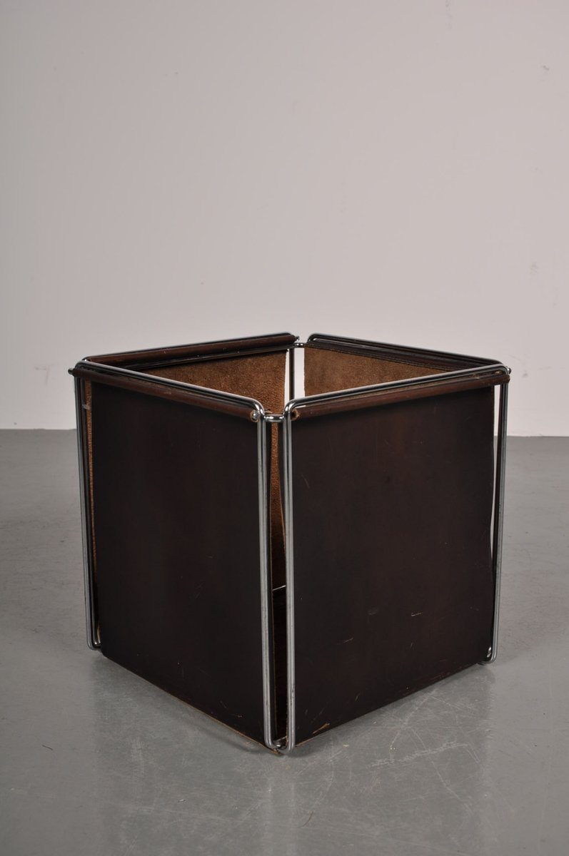 Leather Storage Box Rack By Max Sauze For Studio Max Sauze