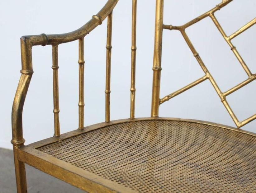 Chaise d 39 appoint et table vintage en faux bambou france for Faux bambou