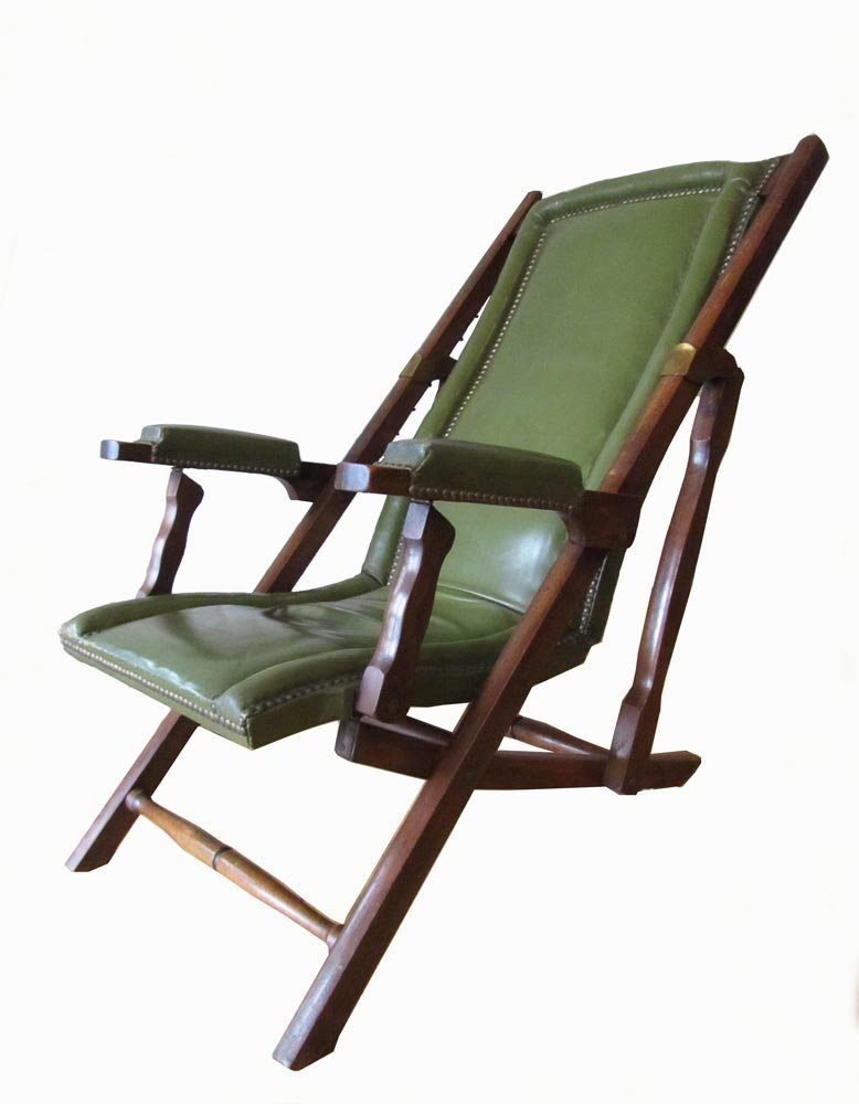 Military Leather Folding Lounge Chair, 1900 9. $690.00. No ...