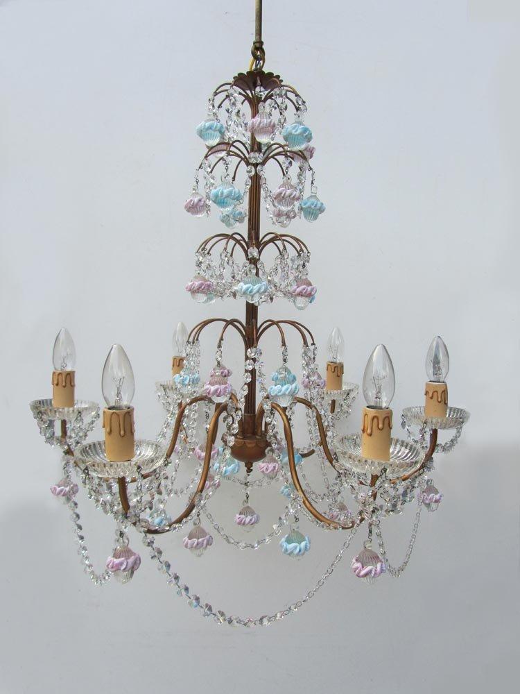 Muranoglas & Kristall Kronleuchter aus Italien