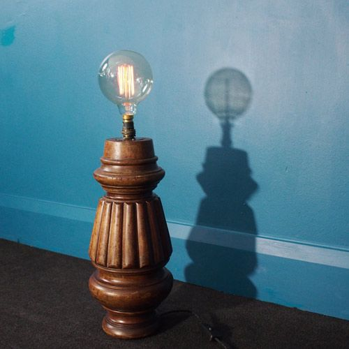 Vintage Tischlampe aus einem Snookertisch