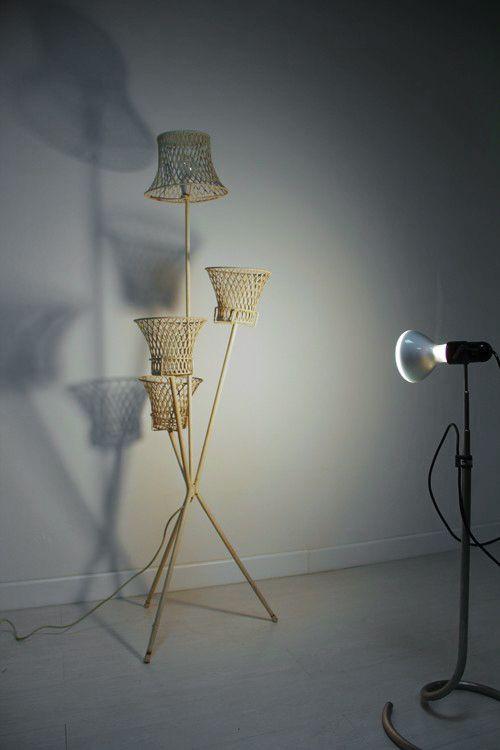 Italienische Mid Century Stehlampe mit Perforation,1950er