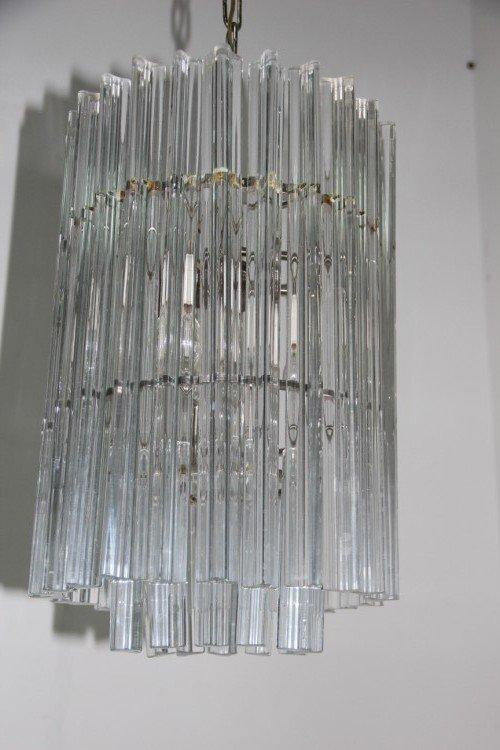 Vintage Kristall Kronleuchter von Venini