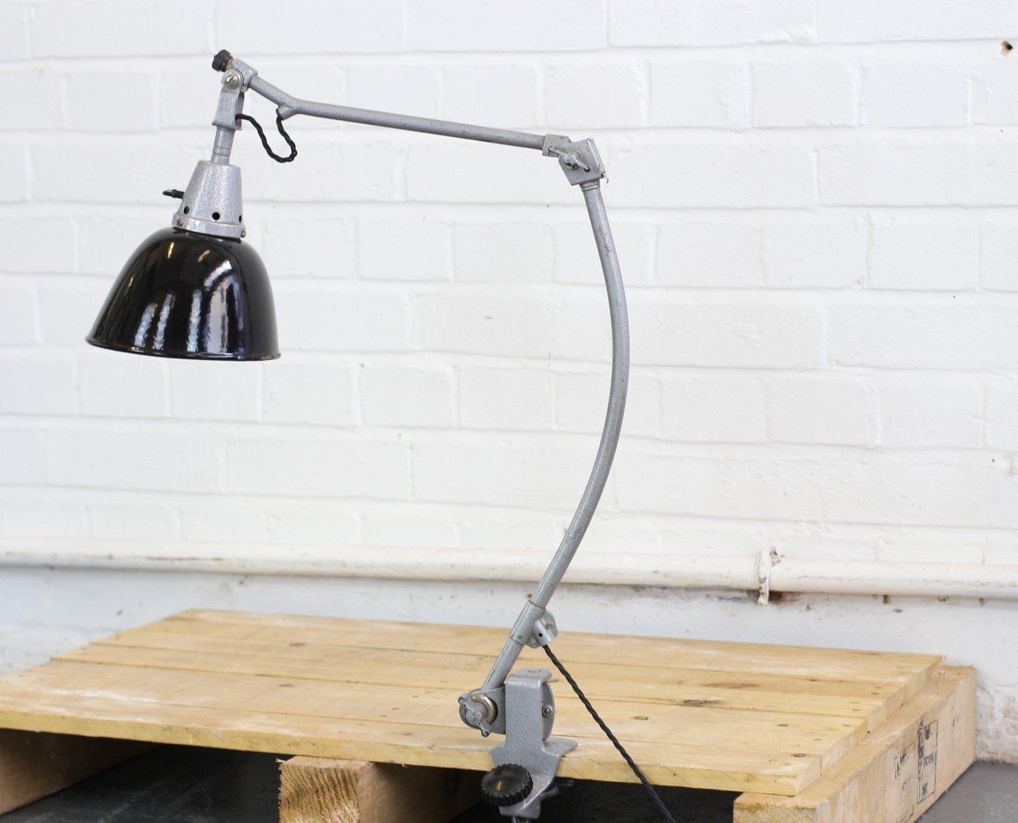 Clamp On Tischlampe von Curt Fischer für Midgard, 1940er