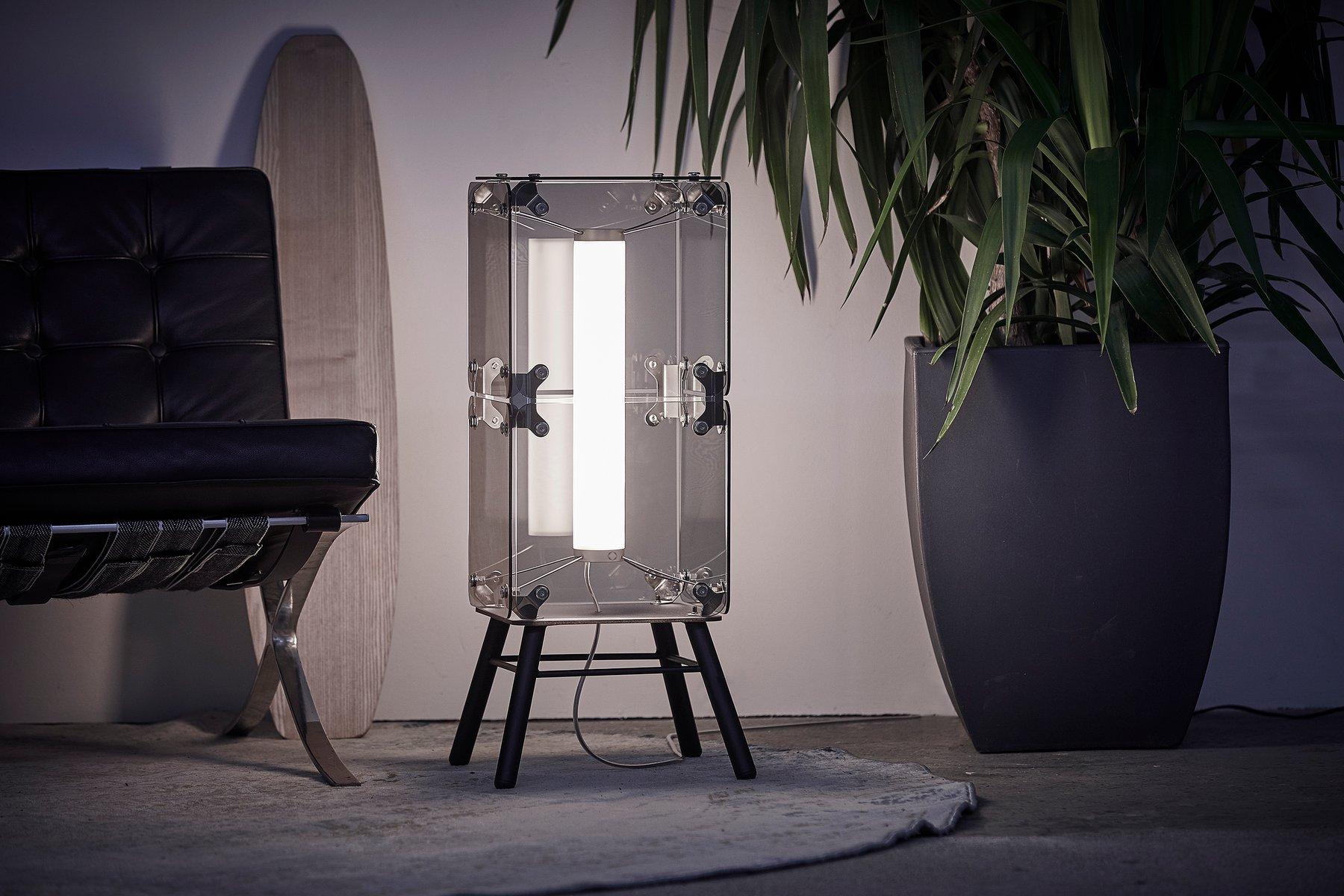 Hyperqube 2-Modul Stehlampe aus Glas mit Gestell & dimmbarer LED von F...