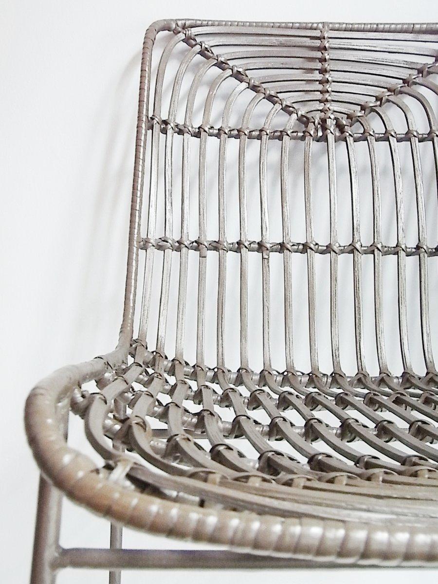 bambus stahl beistellstuhl von gunther lambert 1970er bei pamono kaufen. Black Bedroom Furniture Sets. Home Design Ideas