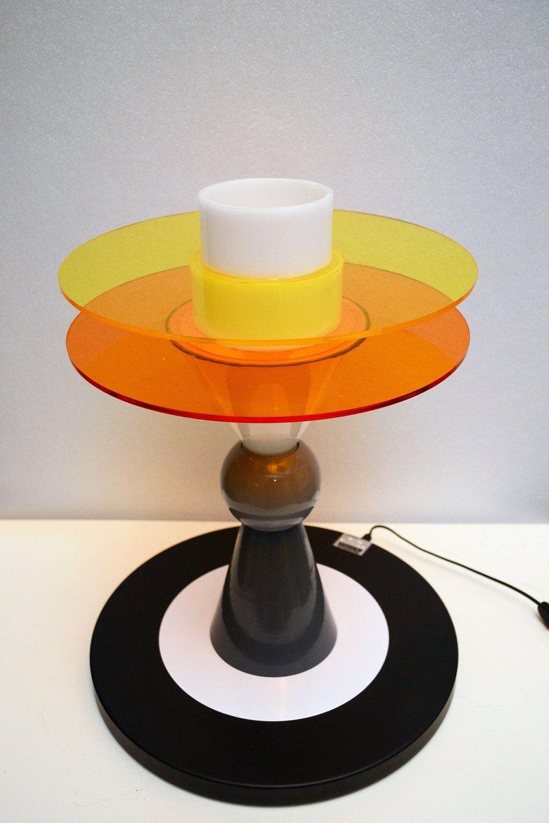 lampe de bureau bay vintage par ettore sottsass pour memphis en vente sur pamono. Black Bedroom Furniture Sets. Home Design Ideas