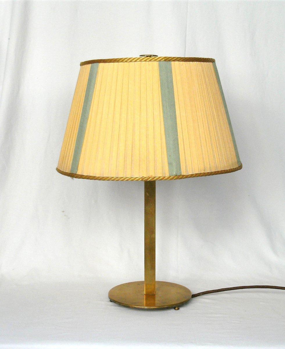Große Art Deco Messing Tischlampe
