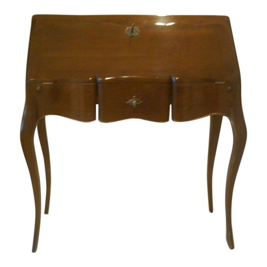 Ausklappbarer französischer Vintage Schreibtisch, 1950er bei Pamono ...