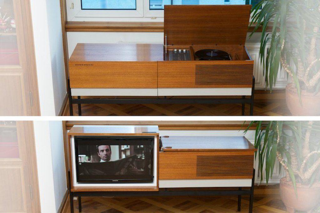 meuble metropolitan pour radio tv lp et t l phone de blaupunkt 1968 en vente sur pamono. Black Bedroom Furniture Sets. Home Design Ideas