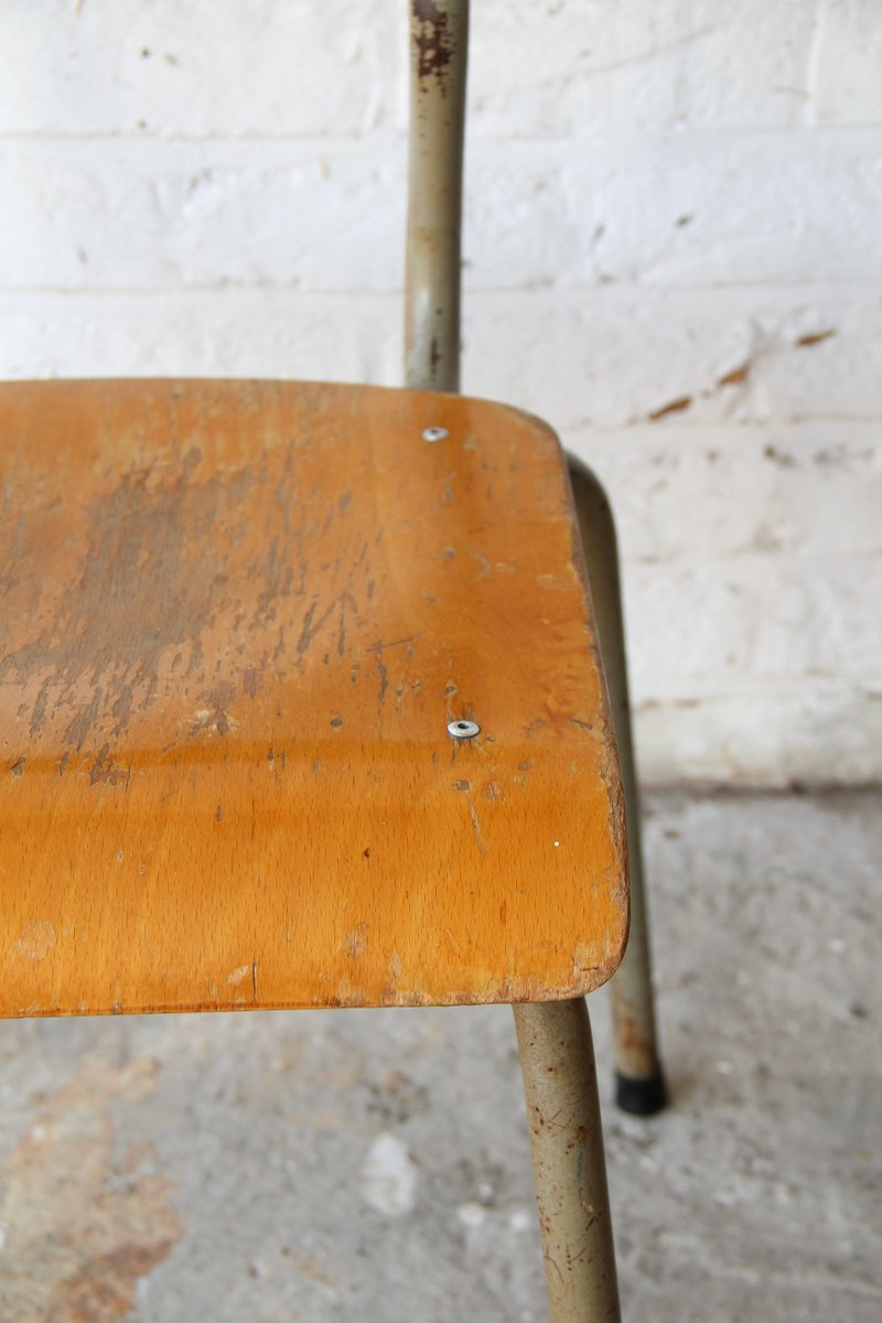 Vintage Wooden School Chair