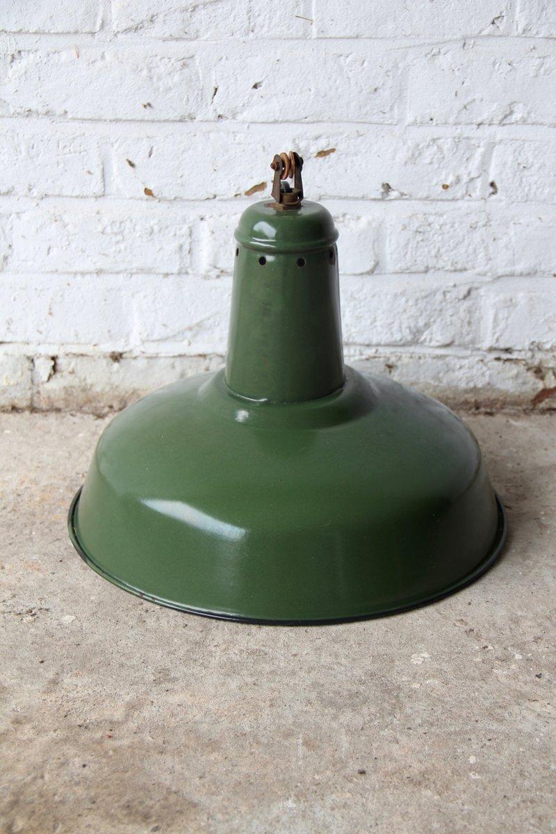 lampe vintage industrielle d usine verte france en vente. Black Bedroom Furniture Sets. Home Design Ideas