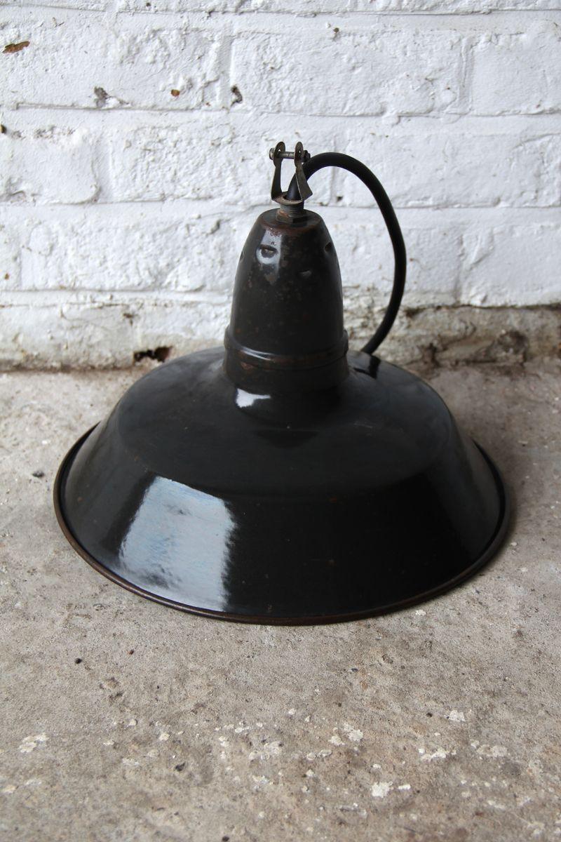 Schwarze Vintage Industrie Lampe