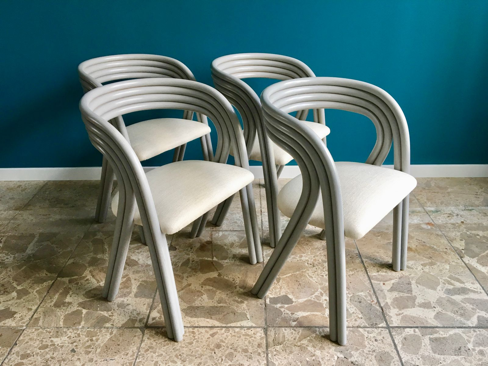 Vintage Dutch Dining Chairs by Axel Enthoven for Rohé Noordwolde Set of 4 & Vintage Dutch Dining Chairs by Axel Enthoven for Rohé Noordwolde ...