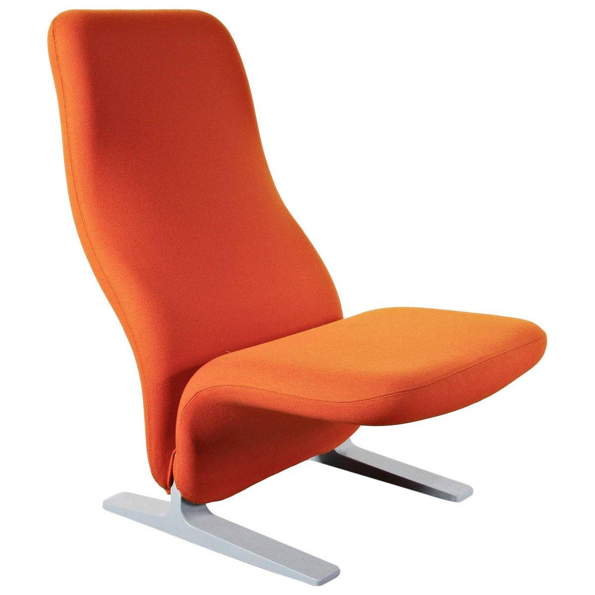 Oranger Concorde Sessel von Pierre Paulin für Artifort, 1960er
