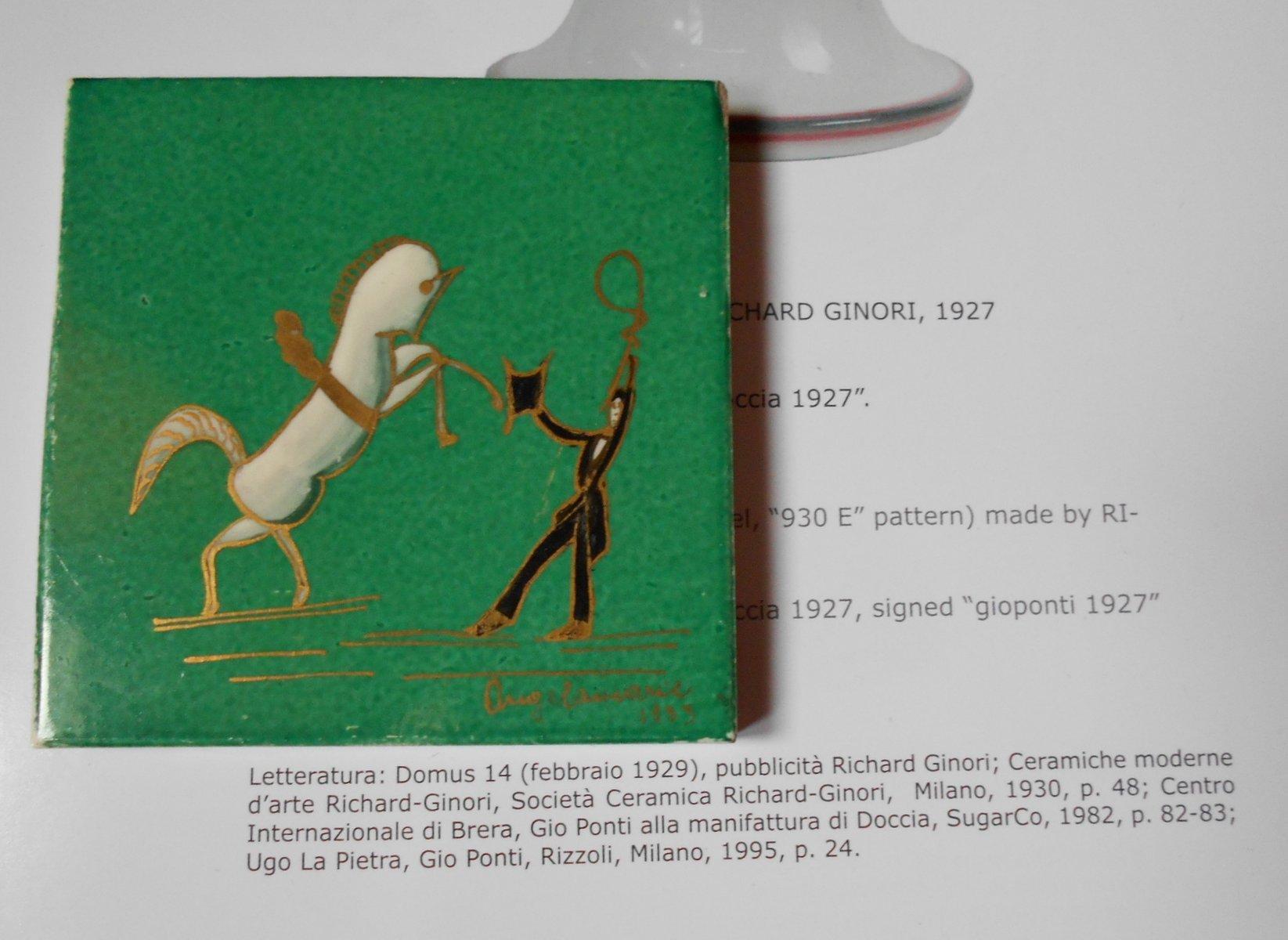 Piastrella art décp in ceramica di gio ponti per richard ginori