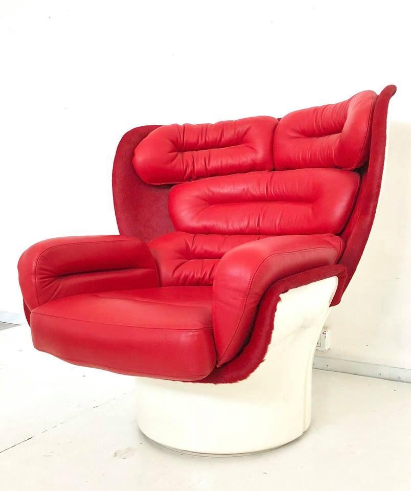 Italienischer Vintage Elda 1005 Sessel von Joe Colombo für Fratelli Lo...