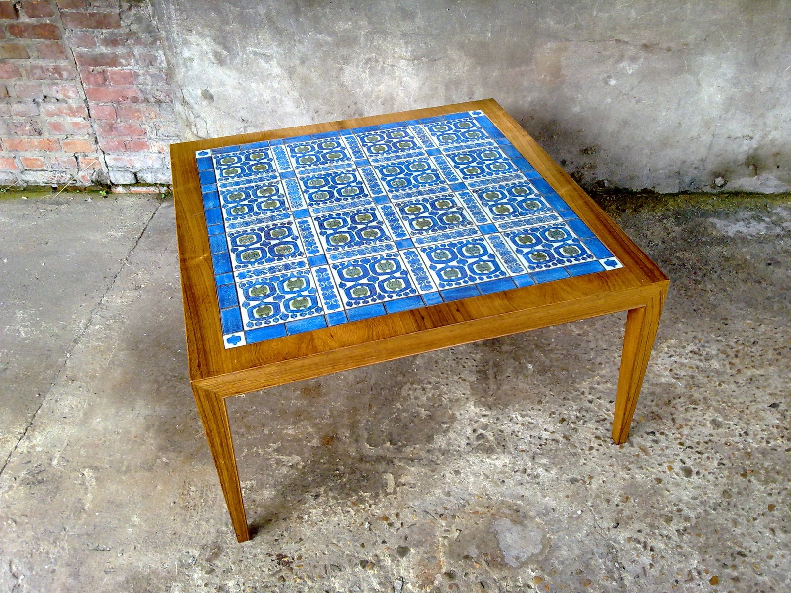 Tiled Coffee Table By Severin Hansen Jr For Royal Copenhagen 1955