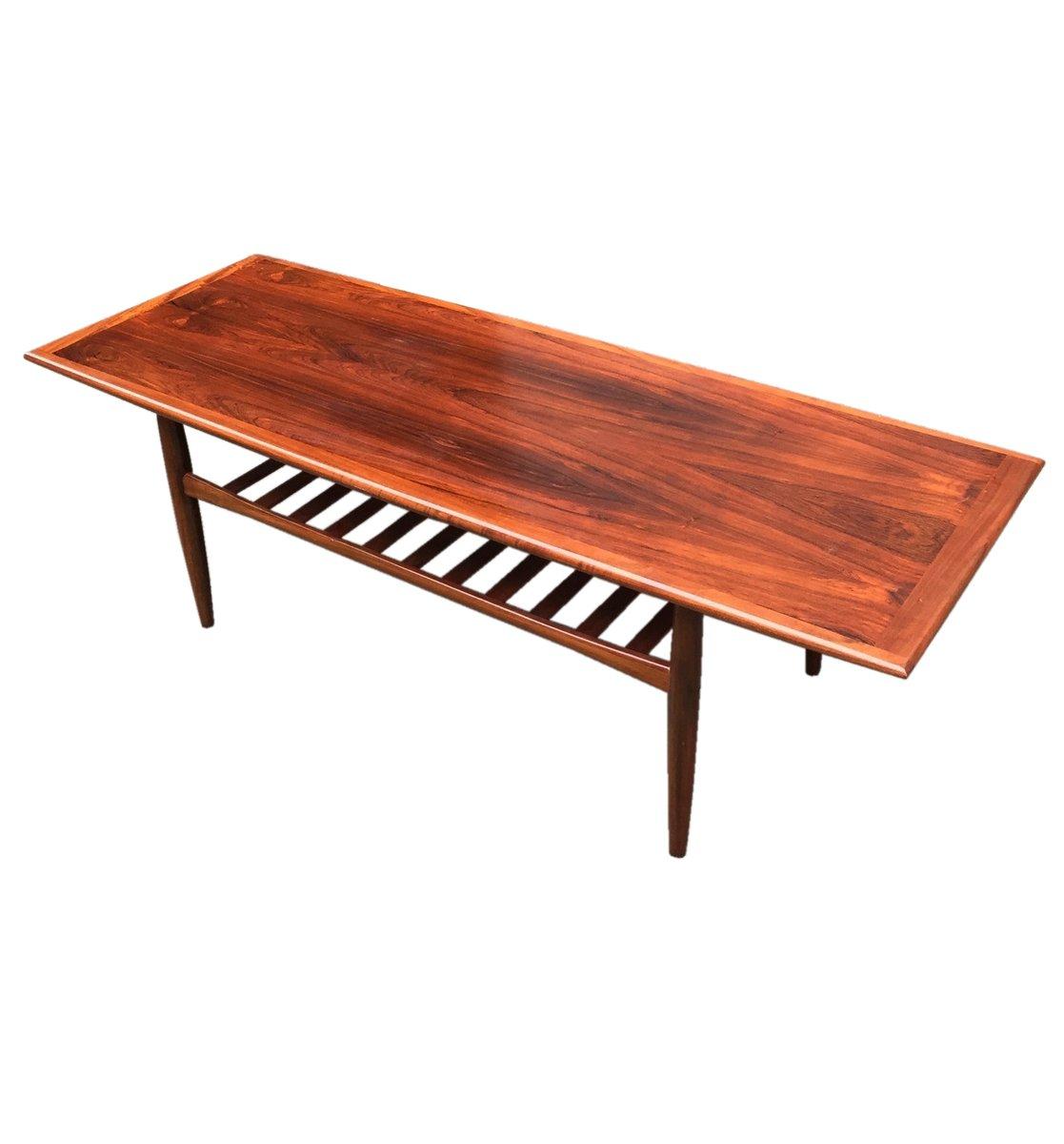 tr s grande table basse mid century en palissandre par grete jalk pour glostrup danemark 1960s