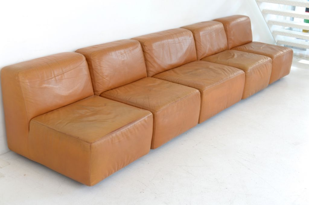 Vintage Leather Sofa By Durlet 1970s For Sale At Pamono