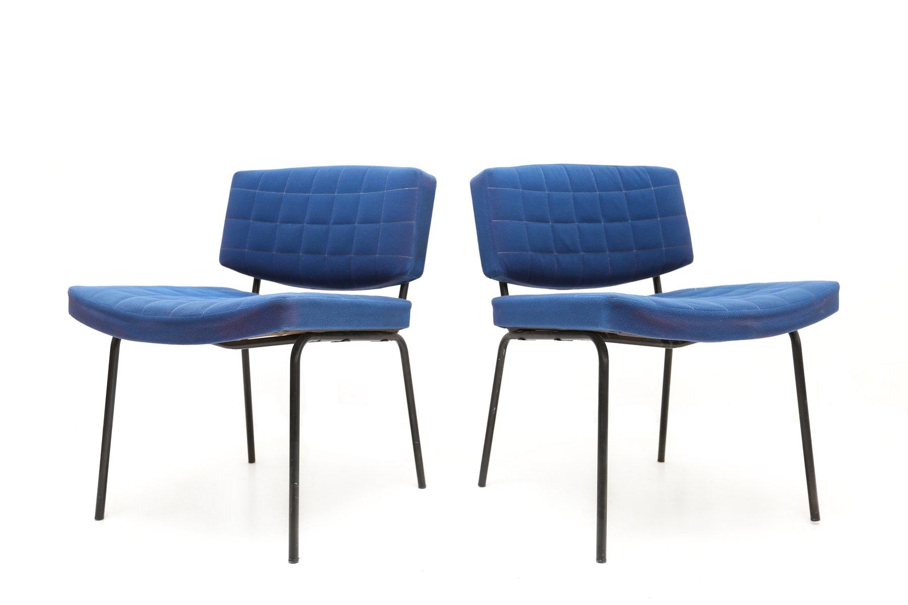 Royal Blue Stühle von Pierre Guariche für Meurop, 1950er, 2er Set