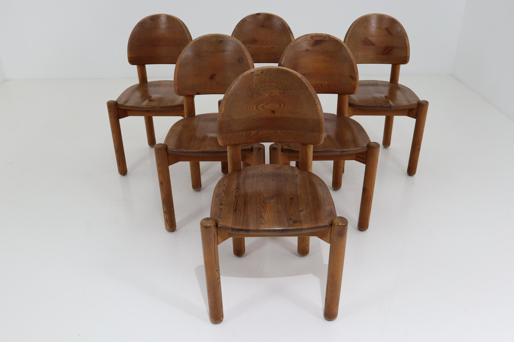 Pine Dining Room Chairs By Rainer Daumiller For Hirtshalls
