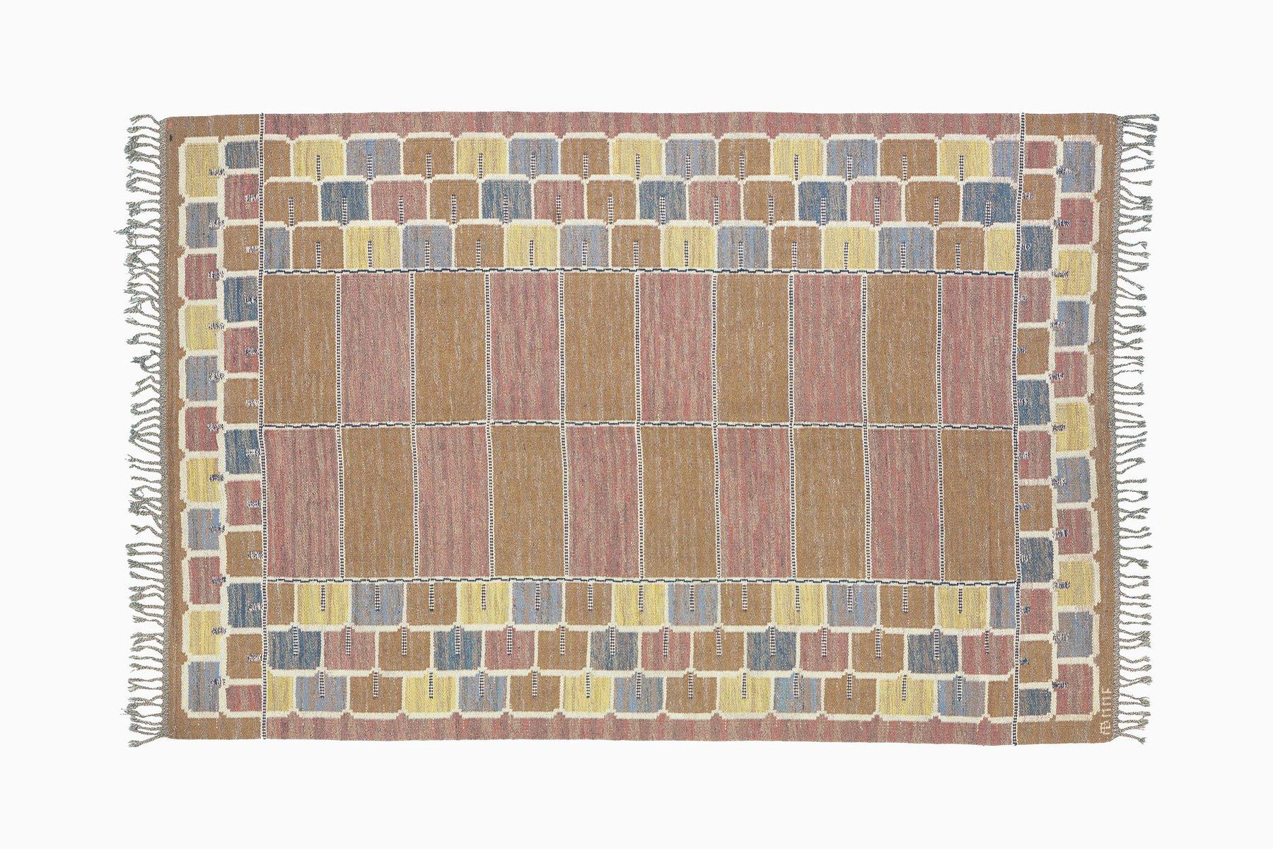 tapis mailles plates couleur pastel par marta maas fjetterstr m su de en vente sur pamono. Black Bedroom Furniture Sets. Home Design Ideas