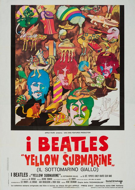 Vintage ´Yellow Submarine´ Beatles Poster 1968