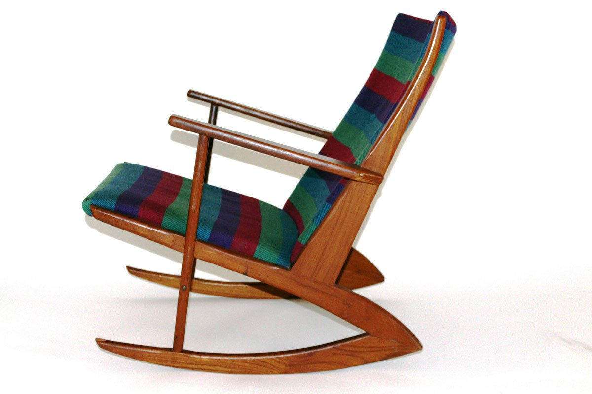 Rocking Chair By Holger Georg Jensen For Tonder And Kubus 1958