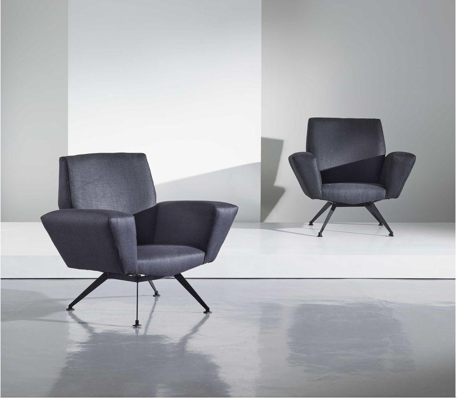 Modell 548 Sessel von Lenzi, 1960er