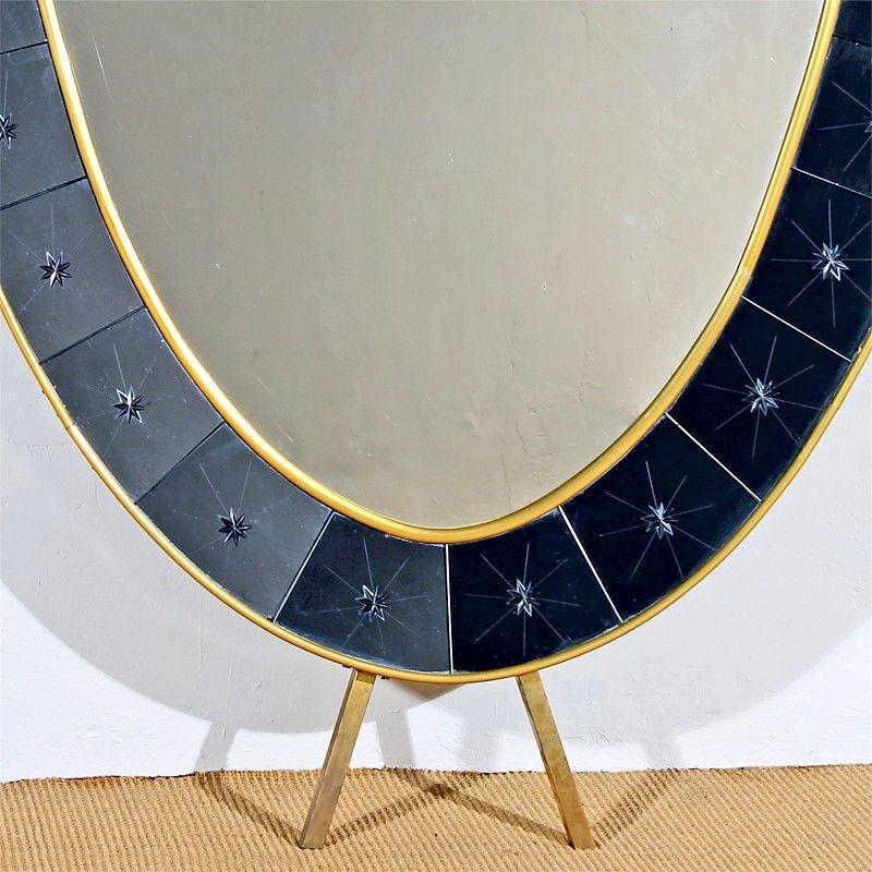 vintage konsolentisch mit spiegel von cristalarte italien 1950er bei pamono kaufen. Black Bedroom Furniture Sets. Home Design Ideas