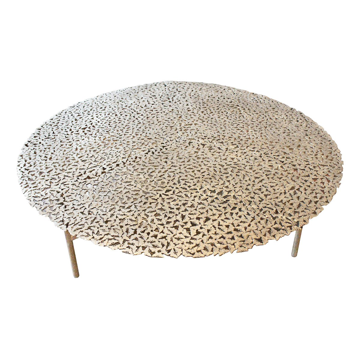 Jean Cast Butterfly Indoor Or Outdoor Coffee Table In White Bronze By Fred Juul For Sale At Pamono