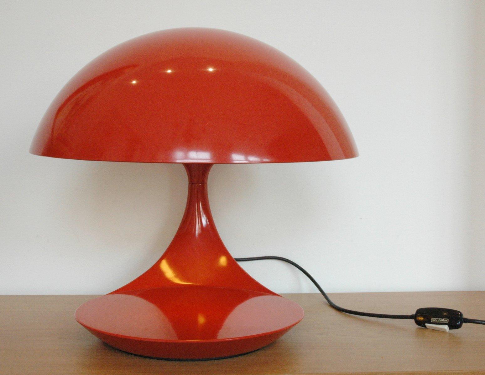 Orange Tischlampe von Elio Martinelli für Martinelli Luce, 1960er