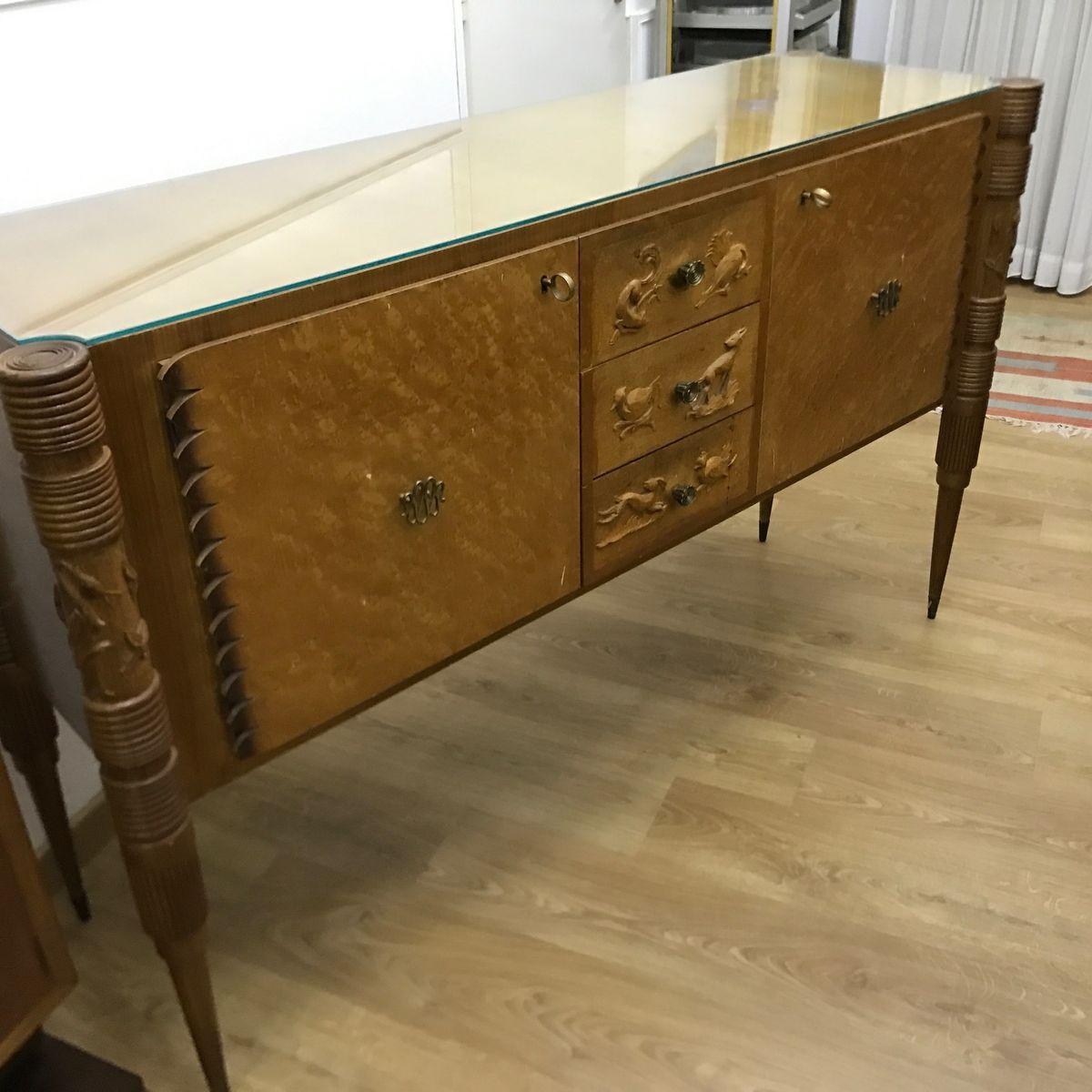 italienisches vintage sideboard von pier luigi colli f r marelli bei pamono kaufen. Black Bedroom Furniture Sets. Home Design Ideas