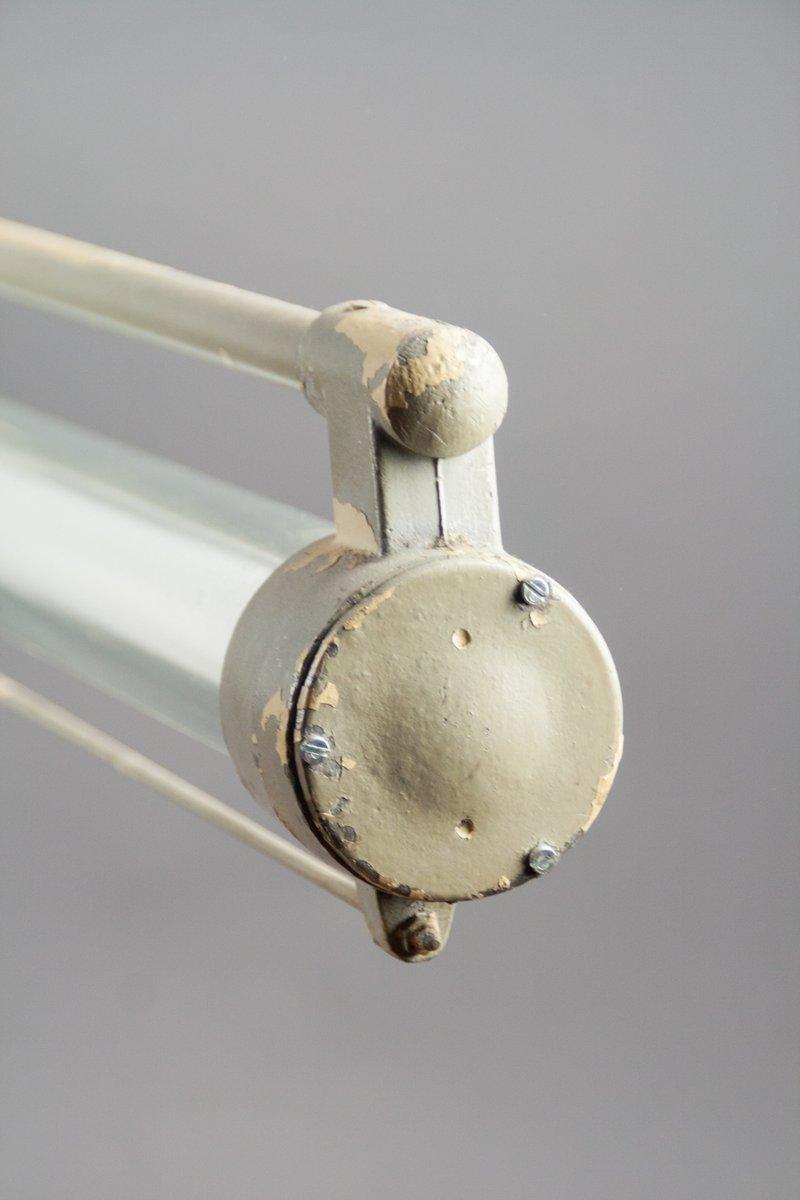 einzelne vintage leuchtstofflampe mit langem pendel von veb metallwaren werk m hlhausen. Black Bedroom Furniture Sets. Home Design Ideas