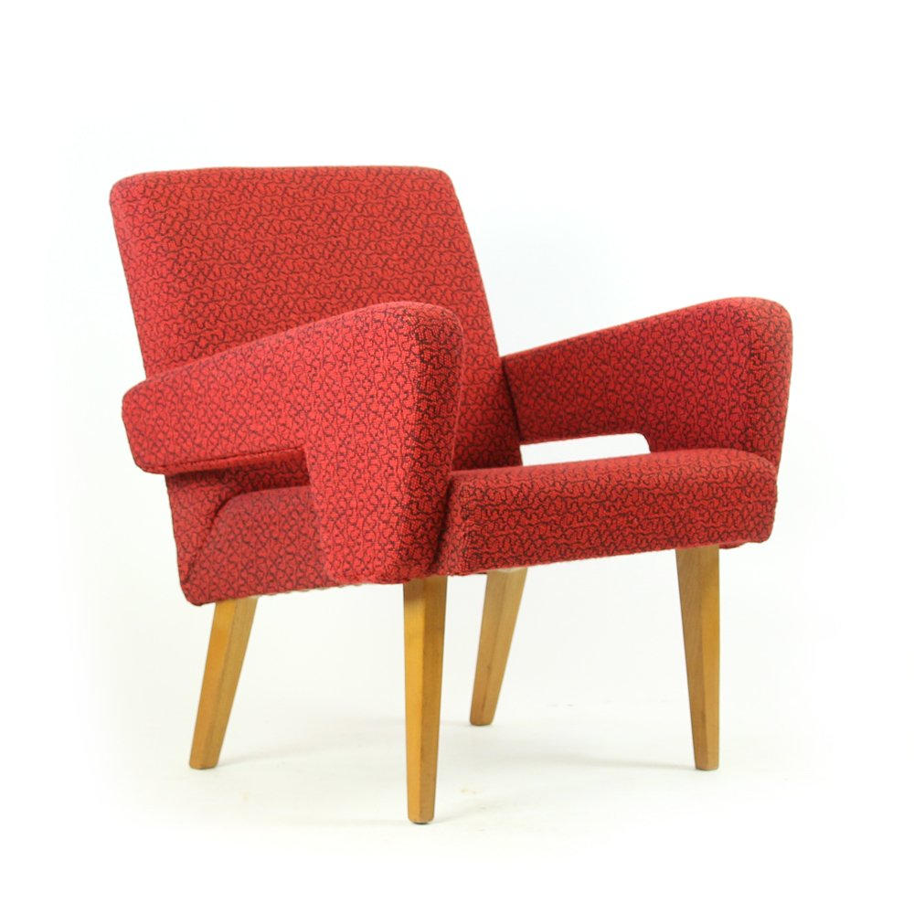 Roter sessel von jitona 1960er bei pamono kaufen for Roter sessel