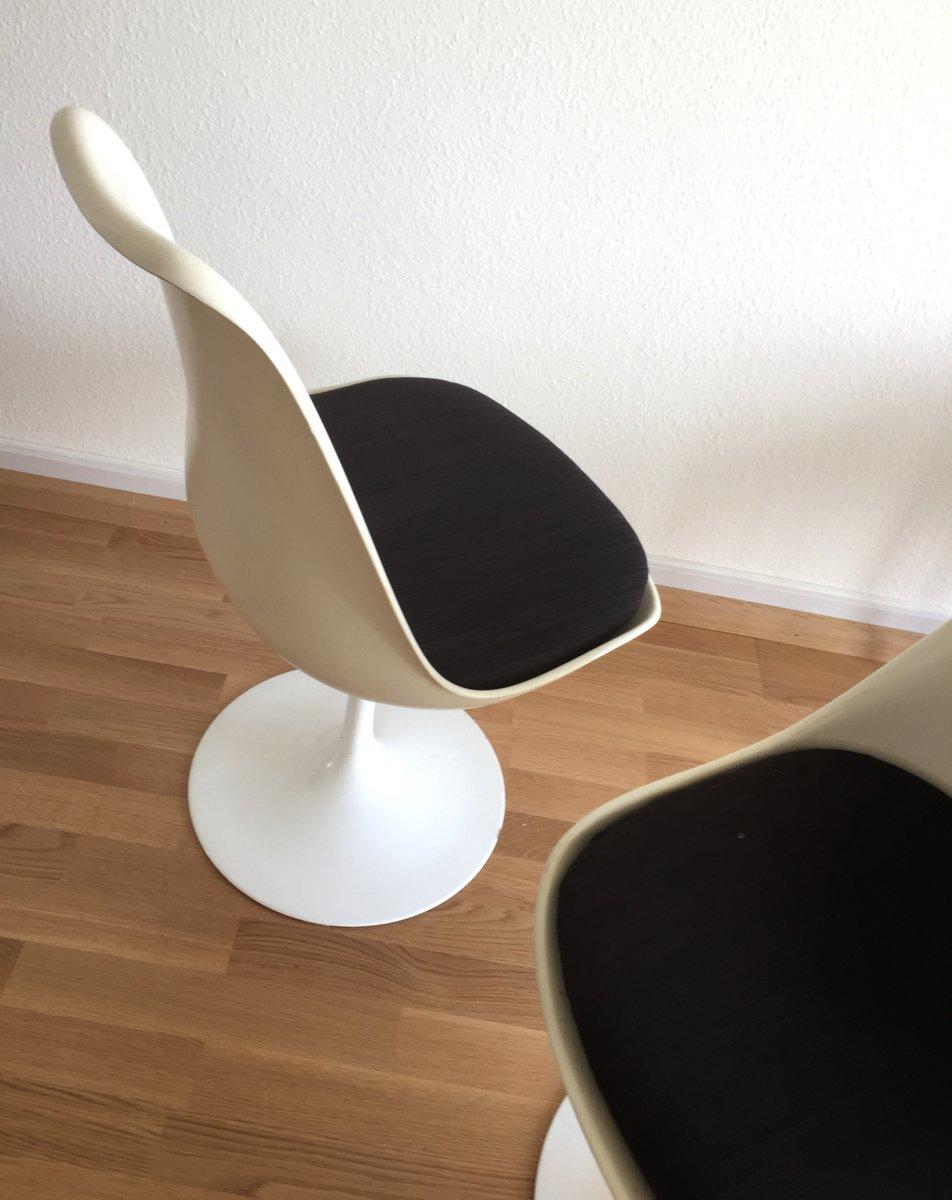 vintage tulip esstisch mit marmorplatte 4 drehst hlen von eero saarinen f r knoll. Black Bedroom Furniture Sets. Home Design Ideas