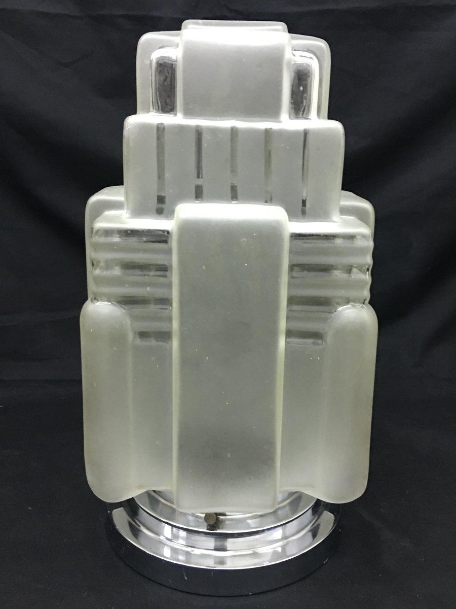 amerikanische art deco tischlampe aus chrom und glas 1920er bei pamono kaufen. Black Bedroom Furniture Sets. Home Design Ideas