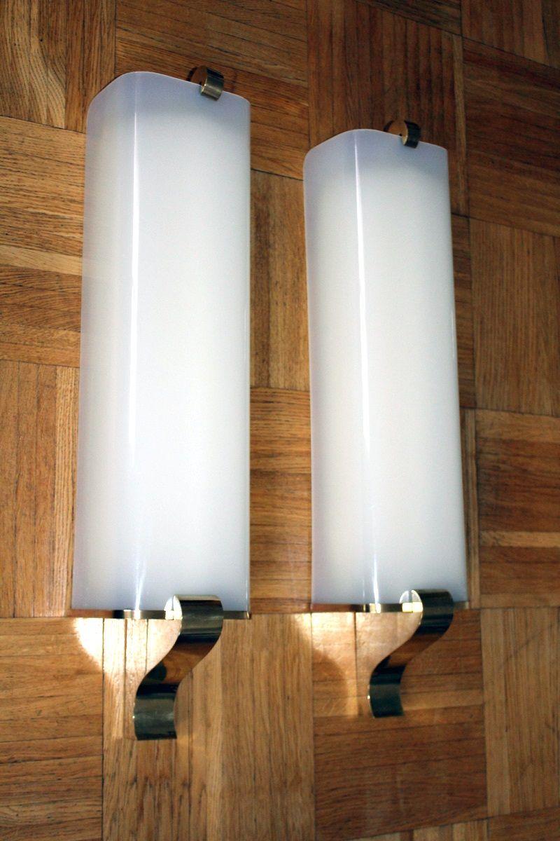 Große Vintage Wandlampen, 2er Set