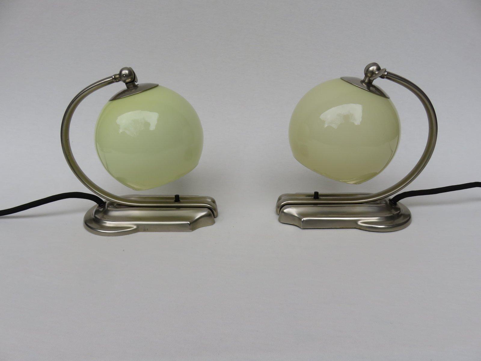 Art Deco Tischlampen von WMF Geislingen, 2er Set